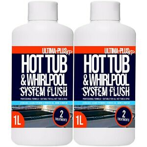 Ultima Plus Hot Tub Cleaner Whirlpool Jacuzzi Cleaning Chemical System Flush 2L