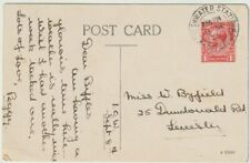 Postal History: FRESHWATER STATION 1925 postmark postcard Needles Isle of Wight