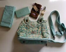 petunia pickle bottom cake diaper bag society satchel aqua green