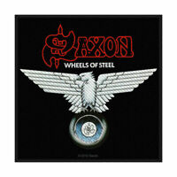 SAXON Wheels Of Steel  Woven Sew On Patch Official Licensed Band Merch Metal