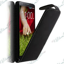 Housse Coque Etui Simili Rabat NOIR Cuir LG G2 Mini LTE Dual Sim D618 D620 D620K
