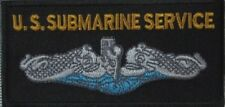 US Submarine Service Embroidered PATCH 4X2 Navy SS SSN SSBN Dolphins Jacket Vest