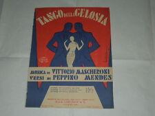 """RARO SPARTITO MUSICALE DEL 1930 """"TANGO DELLA GELOSIA""""-ILLUSTRAZIONE DI BONFANTI"""