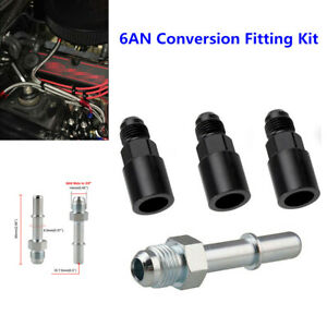 6AN Conversion Fitting Kit for C5 Corvette Fuel Pressure Regulator/Filter-EFI/LS