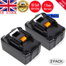 2 X 6.0Ah 18V Lithium ion Battery For Makita BL1860 BL1840 BL1830 BL1815 LXT400