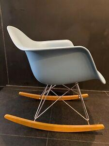 Eames Molded Plastic Armchair, Rocker Base by Herman Miller