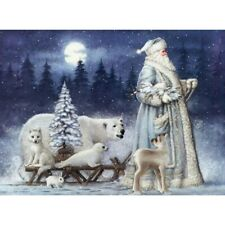 Full Drill 5D Diamond Painting Santa Claus Cross Stitch Kits Embroidery Decors