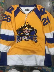 Richmond Renegades SPHL  Nick Pernula GAME WORN HOCKEY JERSEY Size 54