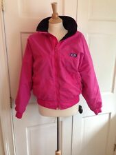Vintage Womens CB SPORTS Fleece Lined SKI JACKET COAT Pink Black M 6 8