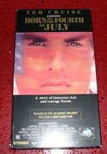 BORN ON THE FOURTH OF JULY VHS