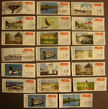 """Denmark """"Postage Labels"""" 20 Different Used F-VF"""