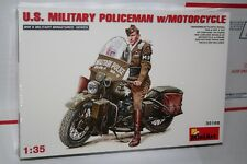 Miniart 1/35 U.S. Military Policeman With Motorcycle No. 35168 Sealed in Box New