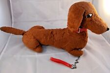 "Columbia Toy Products Dachshund Dog Plush w/ Collar & Chain, 21"" Long Vintage"