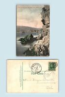 Catalina Island, CA - HANDCOLORED PC & 1907 LEMONCOVE FANCY POSTAL CANCEL