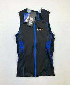 Louis Garneau  Haut Pro Carbon Top Tri Men's Small Black Blue New