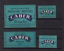 Ancienne  étiquette allumettes  Belgique   A1084 Caber 1