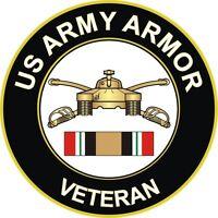 "Army Armor Iraq Veteran 5.5"" Decal / Sticker"