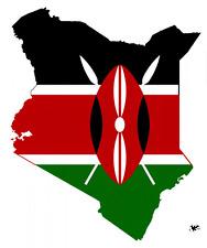 "Auto Aufkleber Kenia ""KENYA"" Vinyl Sticker 11x9cm konturg. Decal die-cut"