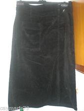 bonita FALDA de pana NEGRA de mujer Talla 46 NUEVA woman dress rock REF. 2-9