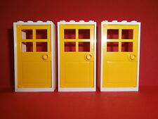 Lego Friends 3 Doors 2 x 4 x 6 White - Yellow New