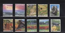 JAPAN 2009 (PREFECTURE) TRAVEL SCENERY SERIES NO. 6 ASUKA AREA NARA 10 STAMPS