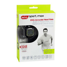 Mio Sport Max EKG Heart Rate Monitor Watch w/ Build-in Pedometer & Calorie Burn