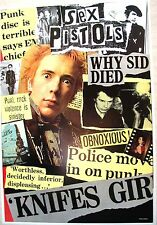 Sid Vicious of the Sex Pistols Poster / Printed in England