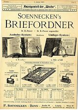 F. Soennecken Bonn Briefordner Locher XXL Theaterschule G. Hollaender Berlin1900