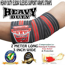 HEAVY DUTY Weight lifting ELBOW SLEEVES SUPPORT WRAPS STRAPS BODYBUILDING STRAPS