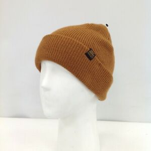 New Next Hat Beanie One Size Orange Brown Knitted Men's Outdoor Wear 471331