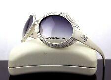 RARE NEW Authentic D&G Dolce & Gabbana White Crystal Sunglasses DG 8038 B 508/8G