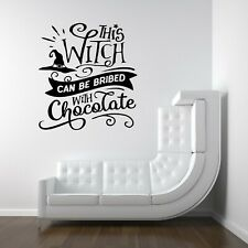 Halloween Witch Chocolate Spooky Vinyl Decal Stickers Shop Window Wall Decor