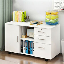 Removable 1 Door 3 Drawer Bedside Table Cabinets Cupboards Nightstand Storage