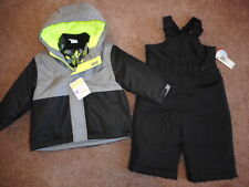 Snowsuits 3 in 1 Jackets Boys Ski Bibs Coats Water resistant 2 pc Set 12 mos