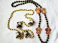Mardi Gras Beads Monkey with Bananas 2 Strands New Orleans Parade Throw Fun!