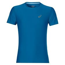 Camisetas de hombre de manga corta azul ASICS