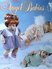 "Crochet Angel Babies Patterns For 12"" Doll  Original By Annie"