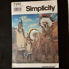 Simplicity sewing pattern #7484 Child's Indian Costumes small/ Medium/ large