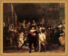 Die Nachtwache Rembrandt Parade Soldaten Licht Kampf Speer Flinte LW H A1 0357