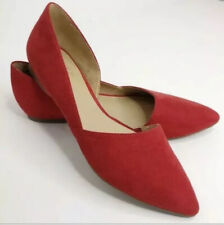 Naturalizer Women's Size 9 NWOB Tennessee D'Orsay Flats Red Suede