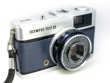 Olympus Trip 35 (1977) Refurb/Service ANTIQUE BLUE LEATHER GOOD COND & FREE POST