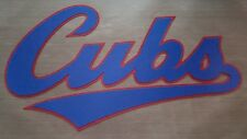 """HUGE CHICAGO CUBS SCRIPT IRON-ON PATCH - 6"""" x 10"""""""