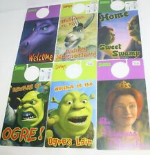 Lot of 6 Dreamworks Shrek Door Hangers Fiona Dragon Donkey by Applause Nos 2001