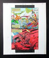 Original JLA DC Comics color guide art: Martian Manhunter/Aquaman/Green Lantern