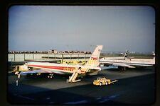 1962 TWA N765TW Boeing 707 Aircraft at JFK pan am, Original Slide b22b