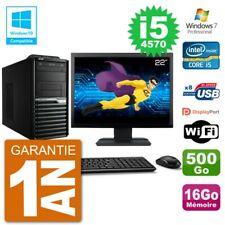 "PC Acer Veriton M4630G MT Ecran 22"" i5-4570 RAM 16Go Disque 500Go DVD Wifi W7"