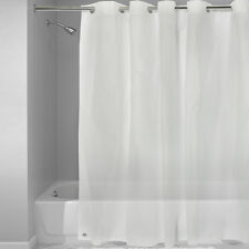 "EZ On Frosted Clear EVA Plastic 72"" x 72"" Hookless Shower Curtain/Liner"
