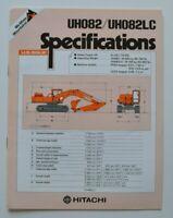 HITACHI UH082 Hydraulic Excavators 1981 dealer brochure - English - USA