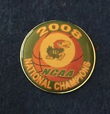 UNIVERSITY OF KANSAS 2008 NATIONAL CHAMPS PIN FREE SHIP BIN USA ONLY NO OFFERS