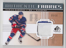 MARIAN GABORIK 2011-12 SP Game Used Hockey Authentic Fabrics Patch /35 Rangers